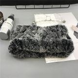 De façon personnalisée Mesdames fourrure de lapin bandeau Hairband hiver propre usine