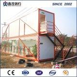 Gemakkelijk om 20 Van de Bouwwerf van het Geprefabriceerde Voet Huis van de Container voor Kamp te installeren