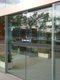 Puerta de vidrio automática para edificio comercial