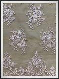 Bordado floral delicado tecido de renda para senhora vestir