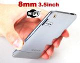 Super 8mm d'épaisseur de 3,5 pouces écran N° de téléphone de l'air 1 FM WIFI déverrouillé quadri-bande cellulaire MP3