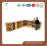Personalizado Cabina de almacenaje de madera con ruedas