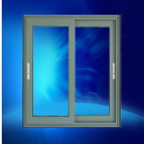 Panel de doble ventana corrediza de aluminio vidrio aislante con bloqueo integrado
