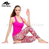 Lo sport sexy di usura di yoga delle donne delle ghette ansima il materiale molle di usura comoda di Runing dei pantaloni di compressione delle signore dei vestiti di forma fisica