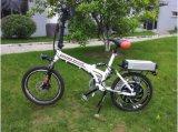 Bici elettrica piegante bianca di 36V 500W En15494