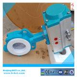 Dubbelwerkende pneumatische actuator wafertype vleugelklep bct-p-wbfv-03