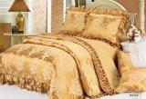 3PCSポリエステルはキルトにされたベッドカバーセットを印刷した