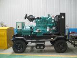4車輪120kw/150kVAのトレーラーのディーゼル発電機(GDC150*S)