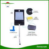 1000lm高品質IP65 81LED屋外ランプの動きセンサーの太陽壁ライト