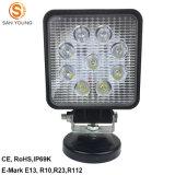 9 phare de travail LED 27W pour les tracteurs voitures 12V 24V Utilisation