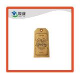 China papel marrón Jeans Hangtag de artesanía