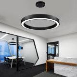 Tamaño de diámetro personalizados anillo redondo forma lineal LED Luz colgante