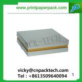 Personalizar todo el rectángulo de alta calidad cosmética de color rígido cuello hombro de papel Cajas Joyero con cinta