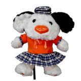 Творческие белый/черный собака животных драйвер для гольфа крышки головки блока цилиндров