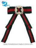 2018 мода для женщин Brooch Rhinestone прекрасный костюм шелк Bowknot Brooch соединительной тяги (CB-10)