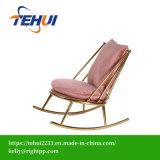 Mobiliário contemporâneo da estrutura de aço inoxidável de Veludo de algodão poltrona Cadeira de Ouro