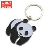 고품질 주문 금속 연약한 사기질 기념품 판다 Keychain