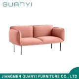 2つのシートの普及した居間の家具の革ファブリックソファー
