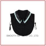 Commerce de gros Fashion paillettes noir de la femme col Half-Length faux