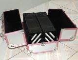 Aluminiumkasten-bearbeitet lederner Uhr-Verpackungs-Luxuxschaukarton für Uhr Bargeld-Schmucksache-Edelstein-Geschenke Collecton (A13)