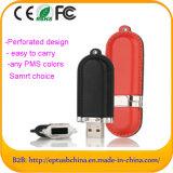 Movimentação feita sob encomenda do flash do USB do couro, movimentação da pena para a promoção (EL013)