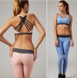 2017人の女性のヨガのズボンの適性の体操の摩耗の女性はスポーツのブラセットにパッドを入れた