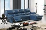 Sofà del salone con il sofà moderno del cuoio genuino impostato (451)