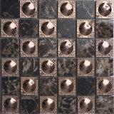 Mosaico de pedra de ladrilhos, mosaicos de metal em aço inoxidável, piso de cerâmica telhas