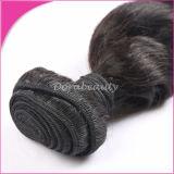 100%の加工されていない人間の毛髪の織り方のバージンのインドの毛の束