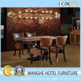 Conjunto determinado de la silla del café del hotel de los muebles del vector antiguo del restaurante