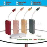 Naben-Aluminiumlegierung Multi-Kanal Typ c-Naben-Adapter USB-C mit 4k HDMI (30Hz), USB-C Durchlauf durch die Aufladung u. up-Downstream Transmiting Daten