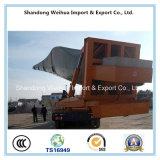 Heavy Duty Lowbed semi remolque para transportar las aspas del ventilador
