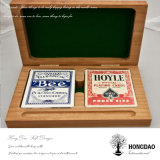 Hongdao kundenspezifischer Luxus geschnitzter hölzernes Geschenk-verpackenkasten für Schürhaken Tarot Großhandelspreis _E