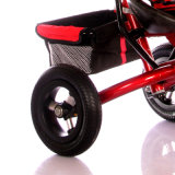 3개의 색깔 강철 프레임 아이를 위한 물자 유모차 세발자전거