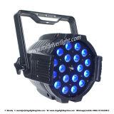 18PCS 10W 4 en 1 luz de interior de la IGUALDAD del zoom del LED