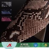 Het Leer van pvc voor Levering voor doorverkoop van de Stof van het Leer van Zakken de Snakeskin Afgedrukte in China