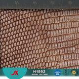 Stof van het Leer van de Slang van het Leer van pvc van China de Kleurrijke Synthetische Metaal voor Zak voor Meubilair voor Decoratie