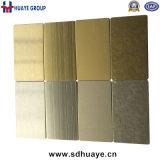 チタニウムの金カラーステンレス鋼のパネル