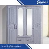 Doble capa de pintura gris Muebles Espejo de aluminio