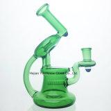 Weiblicher gemeinsamer Rohr-Trinkwasserbrunnen der Recycler-Rauch-Farben-Wasser-Pfeife-14mm