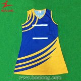 Uniformes de vestidos do Bodysuit do Netball do Sublimation das mulheres