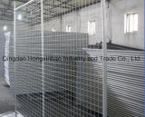 Perrera galvanizada soldada del perro, jaula redonda del perro del tubo del acoplamiento de alambre