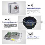 Máquina tamaño pequeño estándar de la marca de la etiqueta de plástico del laser de la fibra de Europa/del laser de la fibra
