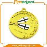 O metal chapeado do ouro ostenta medalhas de Aword com fita