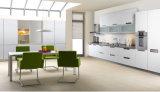 Gabinete de cozinha UV do lustro 2017 elevado moderno (ZX-031)