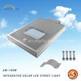Sensor de movimento exterior IP65 integrados em um único LED Solar Luz de Rua