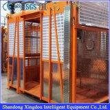 Única e grua dobro da construção das gaiolas 100m