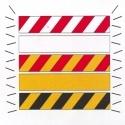 赤く及び白い危険の警告テープ