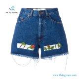 Nuovi Shorts del denim di Minipants di stampa delle donne di disegno