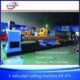 Sela do corte de máquina da estaca de Plamsa da tubulação do aço inoxidável de 3 linhas centrais e cotovelo redondos Kr-Xy3